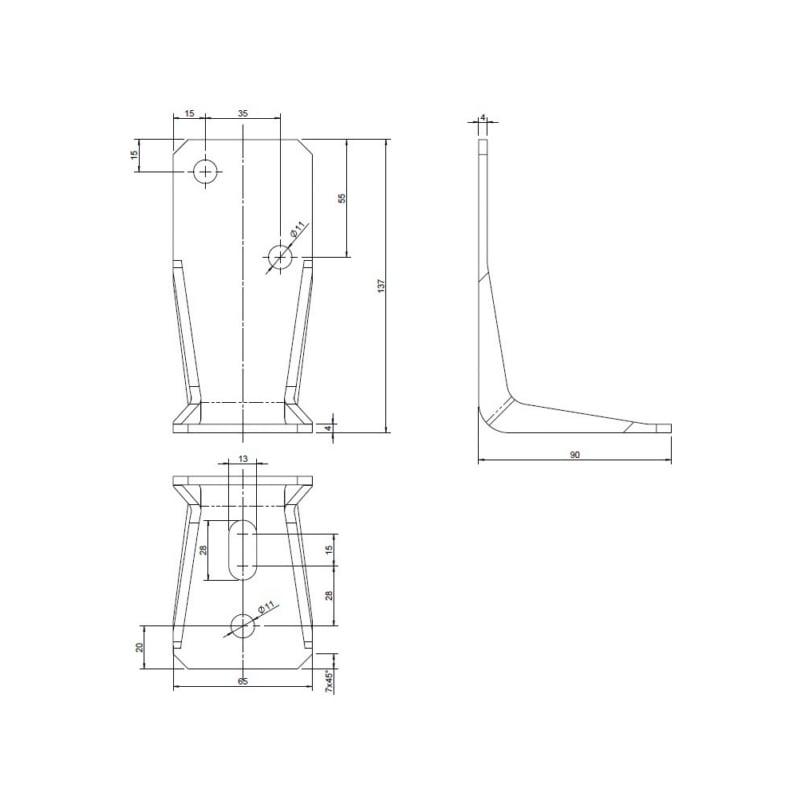 Winkelverbinder Typ V-MH Langloch - 2