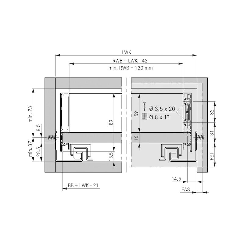 Zargen-Set Vionaro H89 - ZARGSYS-VION-SET-SILBRGRAU-H89-70KG-650