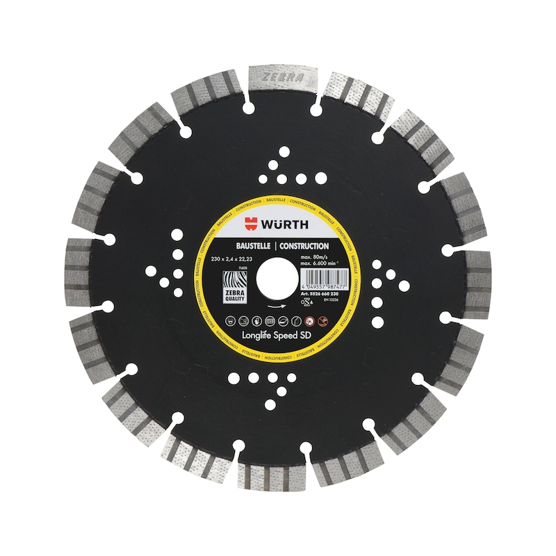 Disque diamant, long life & speed, chantier - CUTDISC-DIA-LS-SD-SITE-DR22,23-D300MM