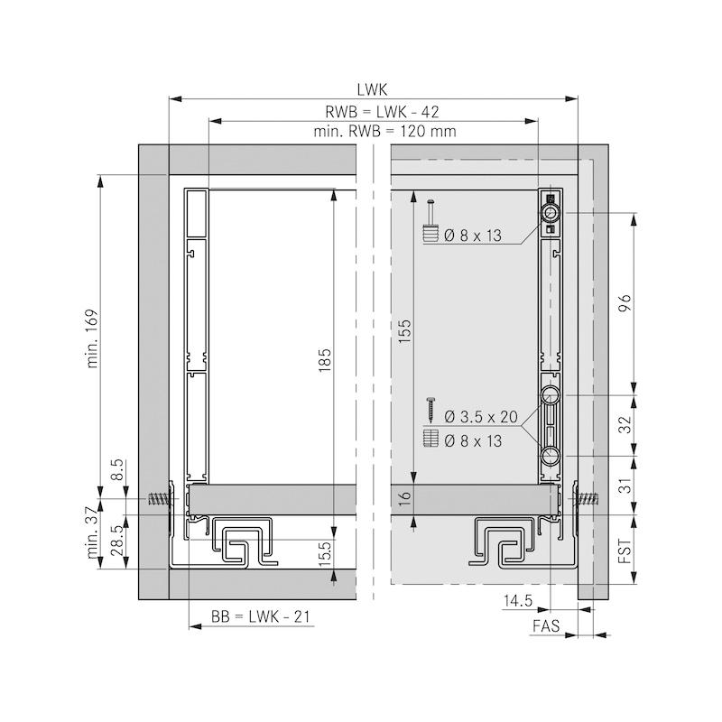 Zargen-Set Vionaro H185 - 2