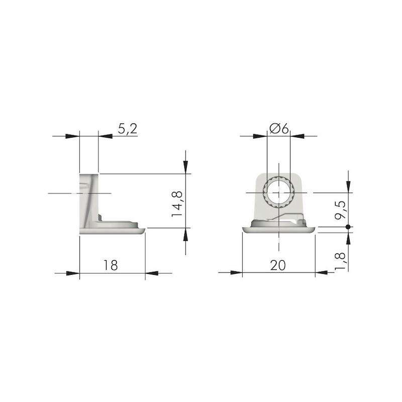Construction shelf support - 2