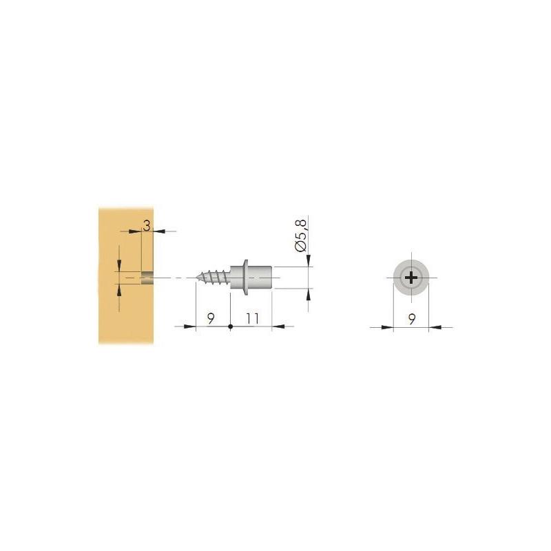 Spanplattenschraube - BODTRG-ZD-(TZN)-FB-EUROBOL-EINFACH-D3MM