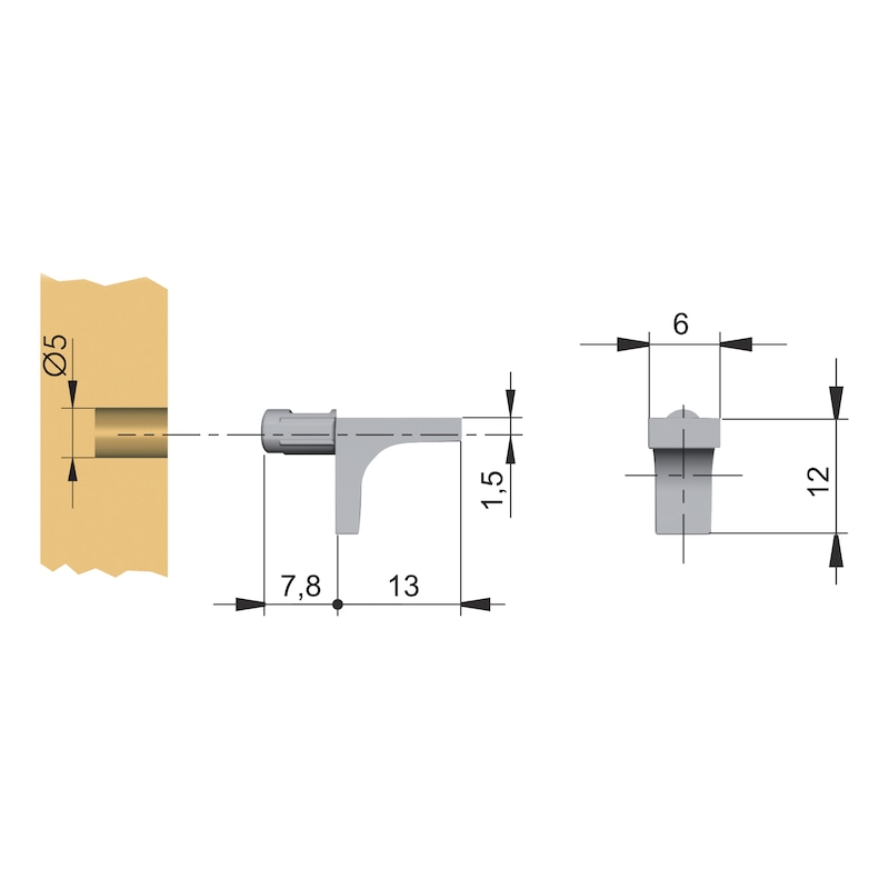 Design-Bodenträger  - 2