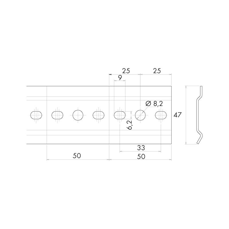 Rail for cabinet hanger (06837122)   Würth