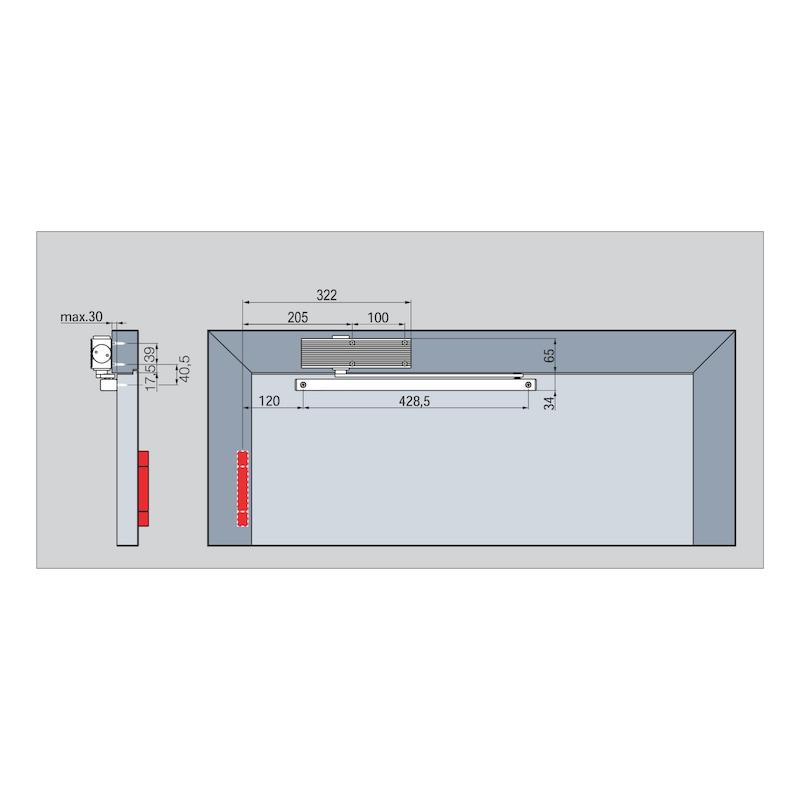 Türschließer GTS 601 mit Gleitschiene - 4