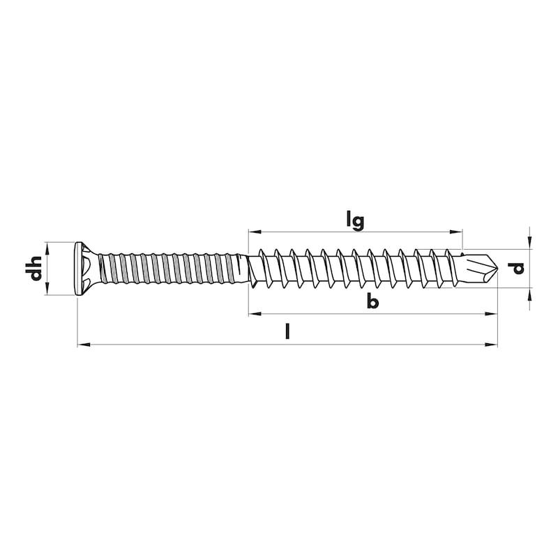 Vis à bois à pointe autoperceuse pour terrasse ASSY<SUP>®</SUP>plus TS A2 FP - 2