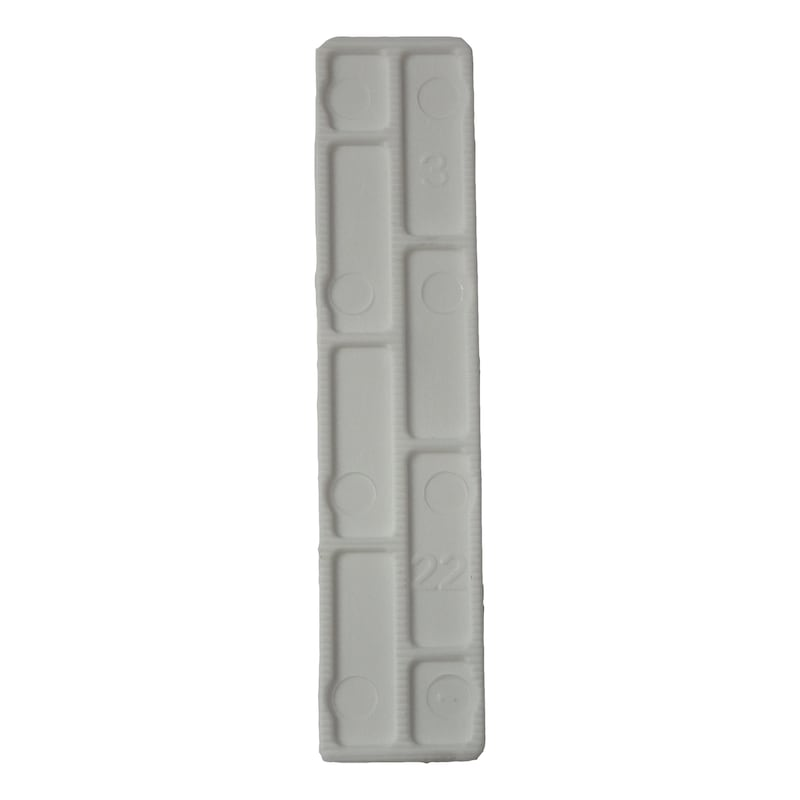 Glazing block - GLZNGPCKR-PP-WHITE-100X3X20MM
