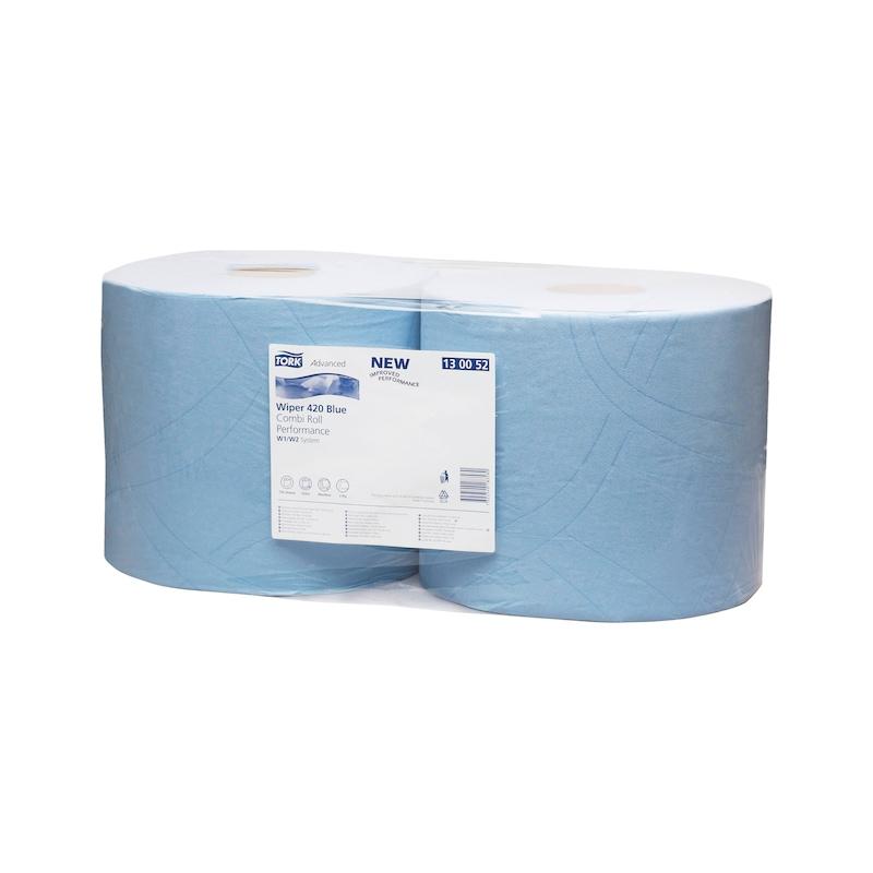 Wischtuch Rolle Wiper 420 Blue - PUPAP-ROLLE-2LG-HYB-23,5X34CM-750BLATT
