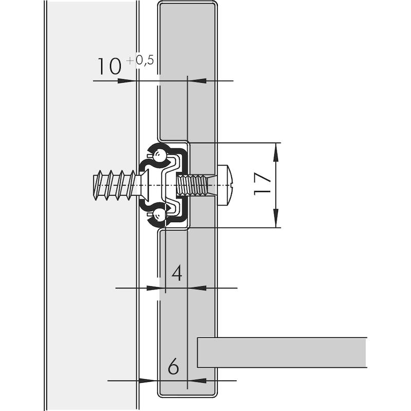 Kugelführung Teilauszug 10 kg - 2