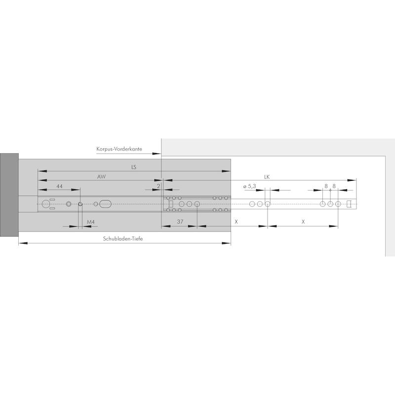 Kugelführung Teilauszug 10 kg - 3