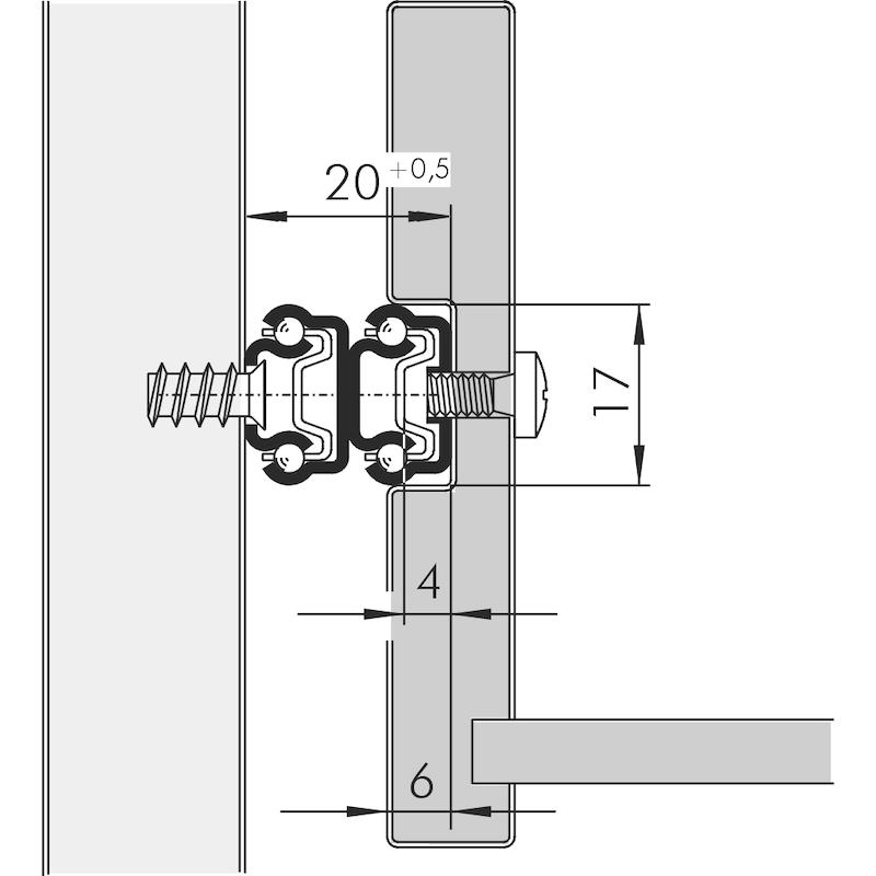 Kugelführung Vollauszug 10 kg - 2