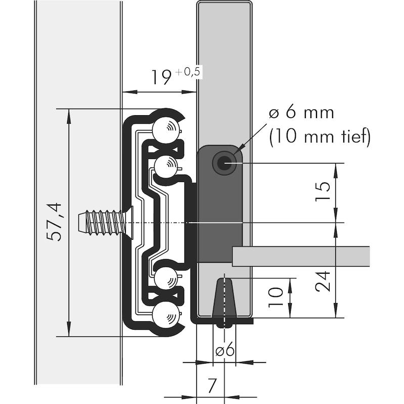 Kugelführung Vollauszug 70 kg - 2