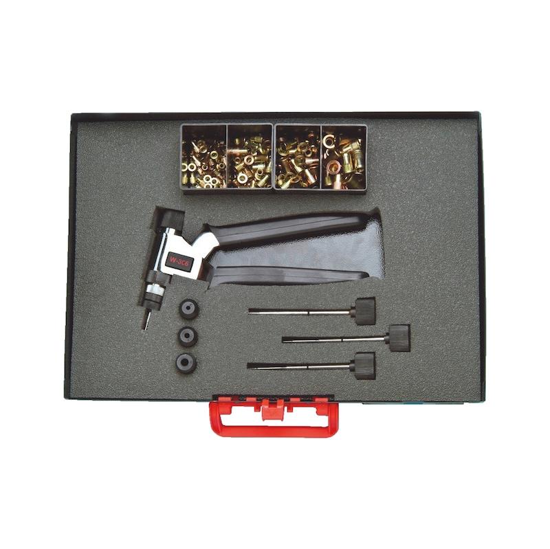 Manuel somunlu perçin tabancası ürün seti  W-306