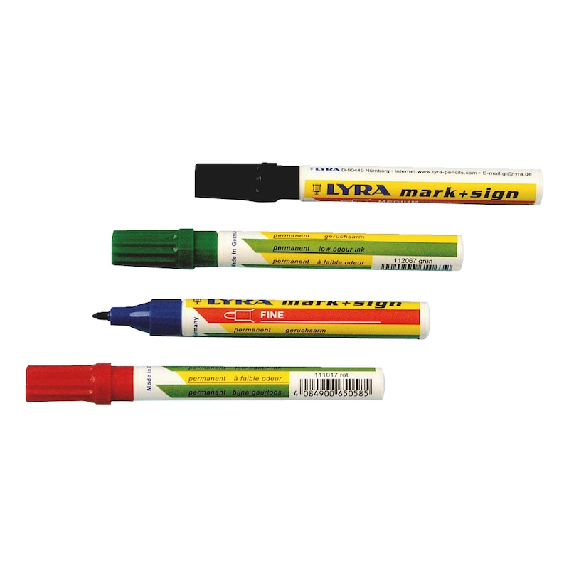 Tintenmarker Standard Tinte - TINTMARK-PERMANENT-FEIN-(1-4MM)-SCHWARZ