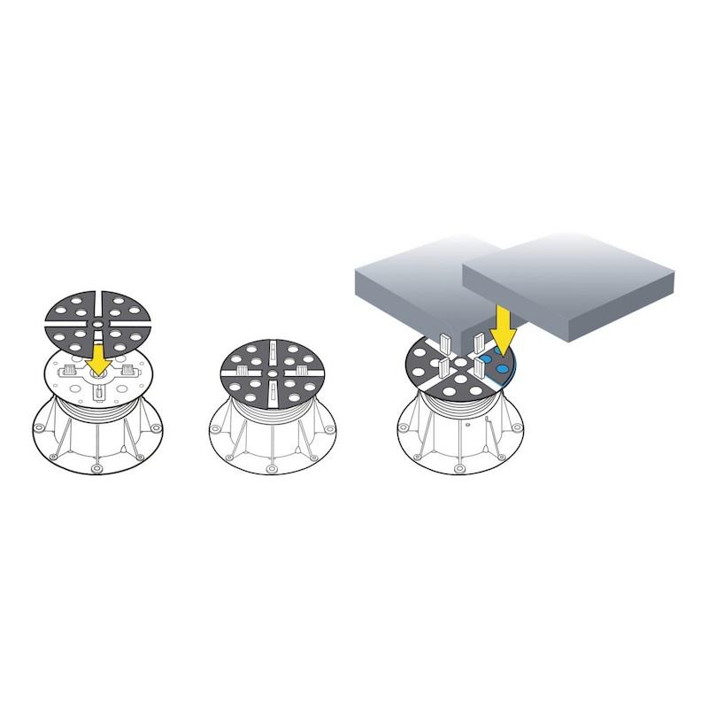 Onderlegplaat voor terrasdragers - EPDM DEMPER/STELLER 2MM TBV VLOERDRAGER