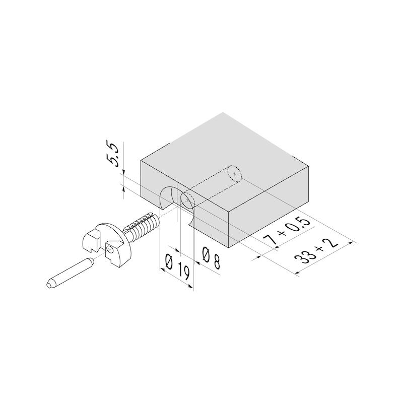 Gehäuse - BODTRG-FIXOGRASS9000-PE-D19/8MM-33MM