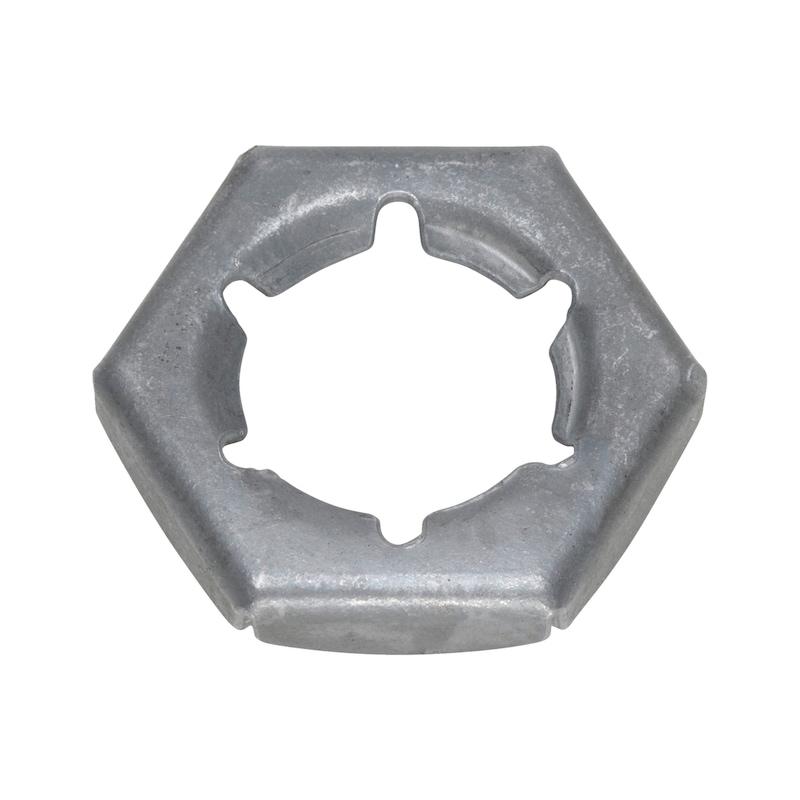 Sicherungsmutter - MU-SI-6KT-DIN7967-FEDST-SW24-(TZN)-M16