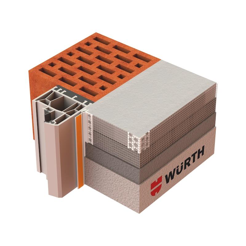 Anputzdichtleiste 3D Premium mit Gewebe - LSTDI-GWB-3D-PREMIUM-L1,4M-B17MM