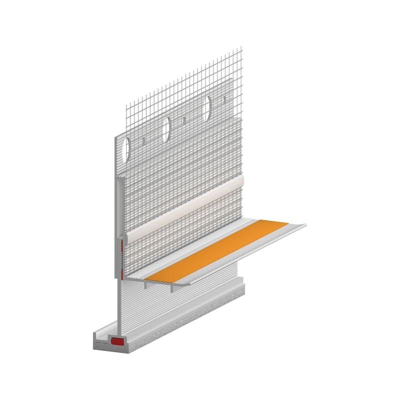 Anputzdichtleiste 3D Alu mit Gewebe - 1