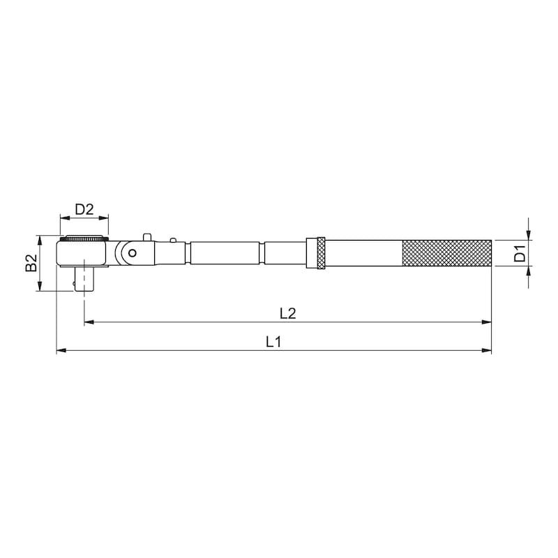 3/8 Zoll Gelenkkopfknarre verlängerbar - 2