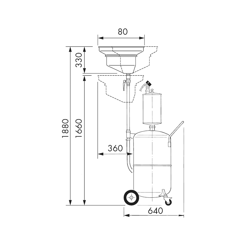 Aspiratore recuperatore d'olio AR 90 - 2