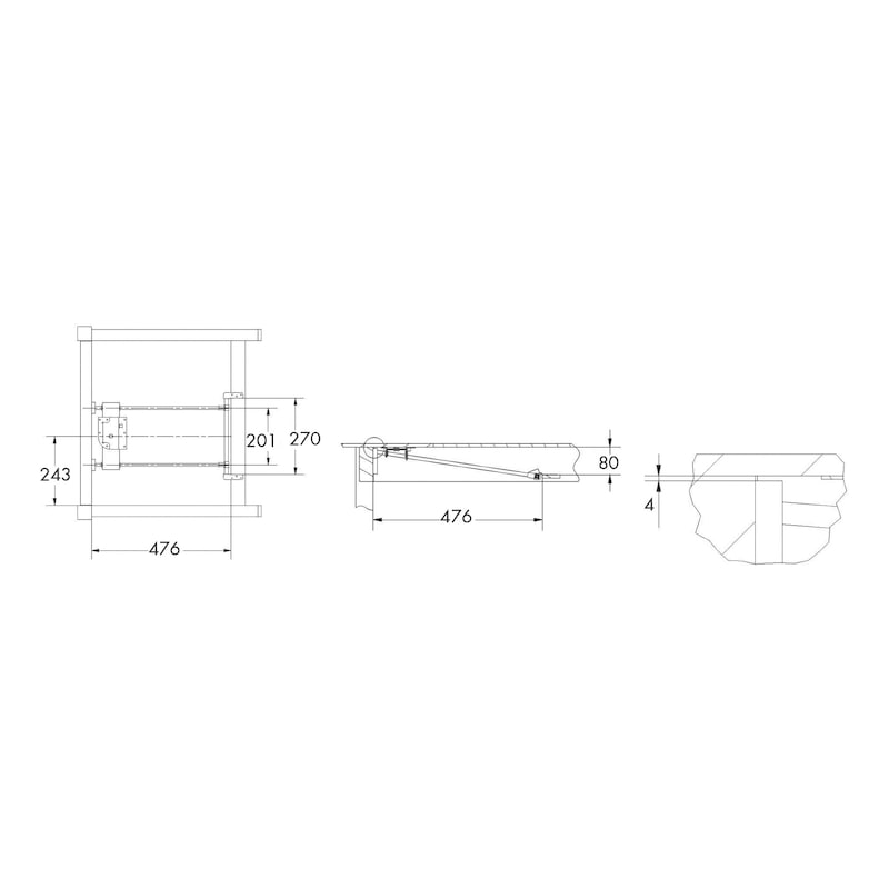 Giraprolunga per tavoli apertura laterale - 2