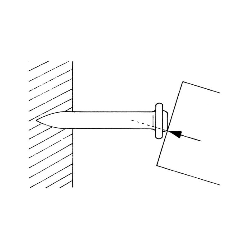 """Pointes béton type lisse """"double tête"""" - 3"""