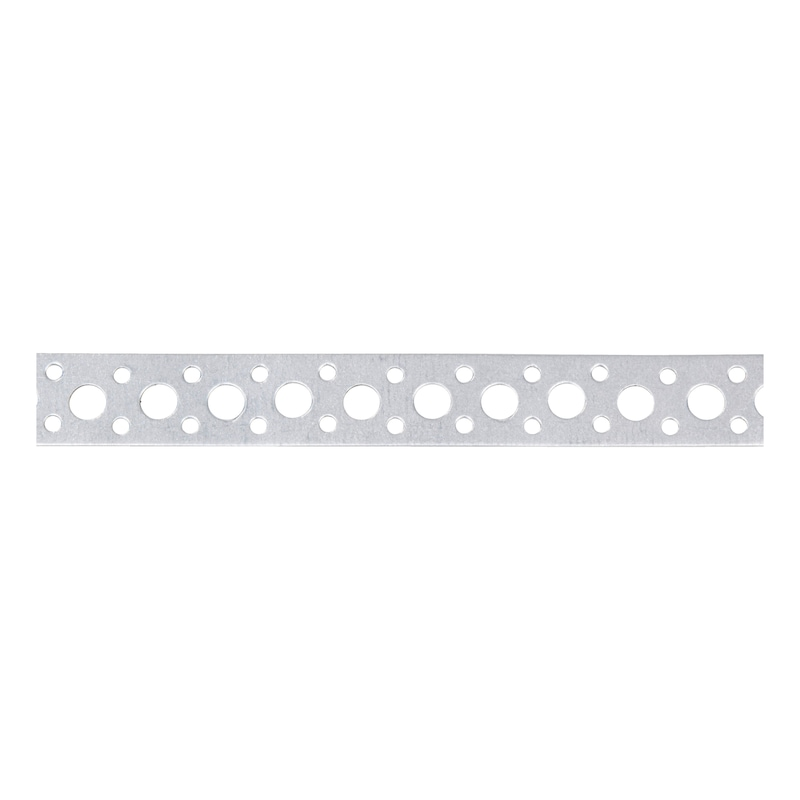 Punched mounting strip with marginal perforations - 1