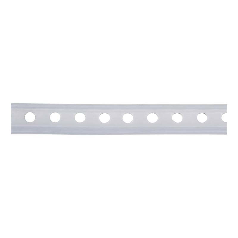 Plastic-coated punched mounting strip - 1