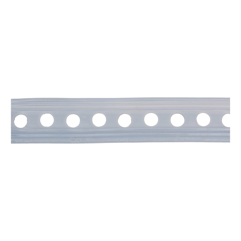 Plastic-coated punched mounting strip - INSTLSTRP-PERF-WELDED-PLA-HOD8,5MM-W27MM