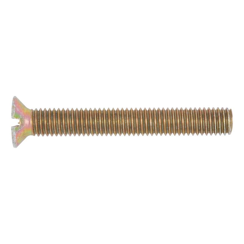 Винт с потайной плоской головкой и шлицем - ВИНТ-DIN963-4.8-A2C-M4X8