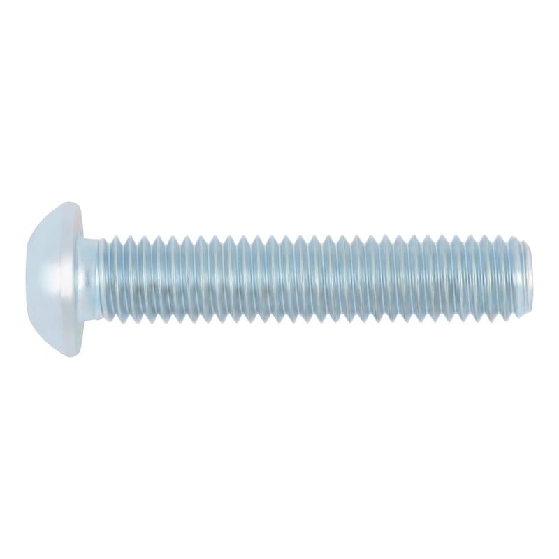Schraube abgeflachter Halbrundkopf und Innensechskant - SHR-ISO7380/1-010.9-IS6-(ZSML)-M10X25
