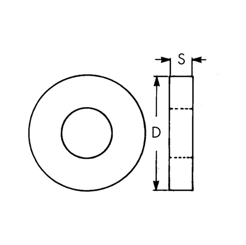 Rondella d'appoggio di ricambio - 2