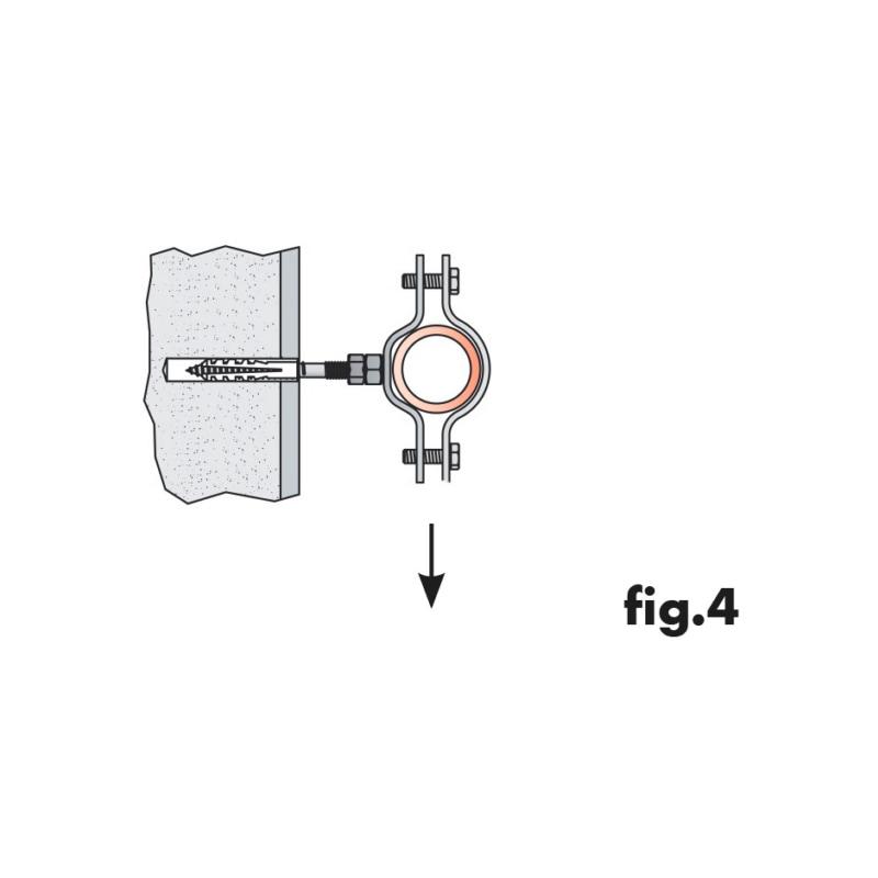 Collare pesante per tubazioni - COLLARE PES. CON DADO INOX A2    1