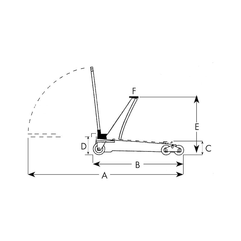 Sollevatore idraulico speciale a carrello - 2