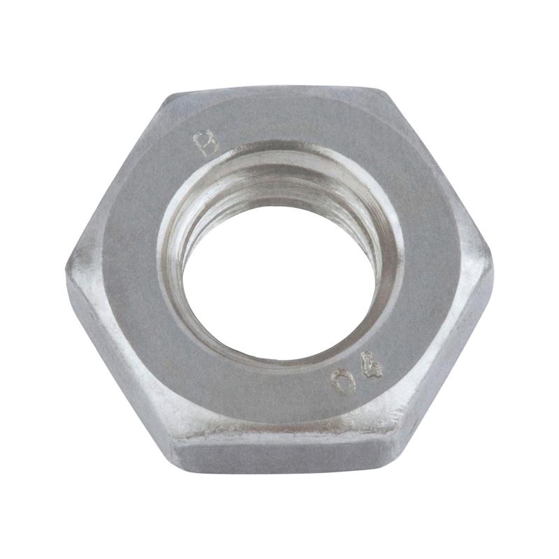 Sechskantmutter flache Form mit Feingewinde - MU-6KT-DIN936-04-SW19-M12X1,25