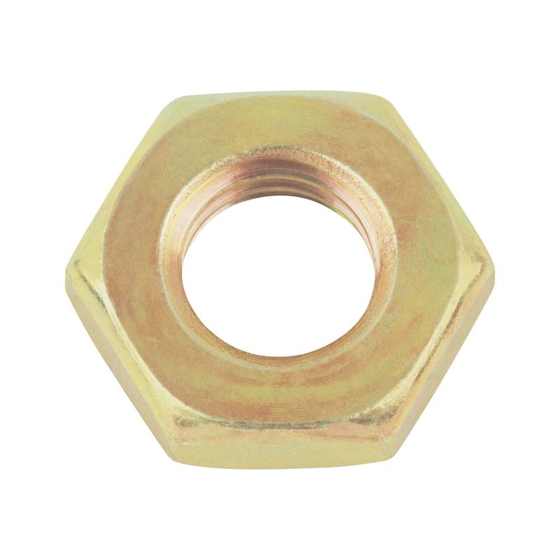 Oceľ DIN 439, žltá galvanizovaná, jemný závit - NUT-HEX-DIN439-B-04-WS46-(A3C)-M30X2,0