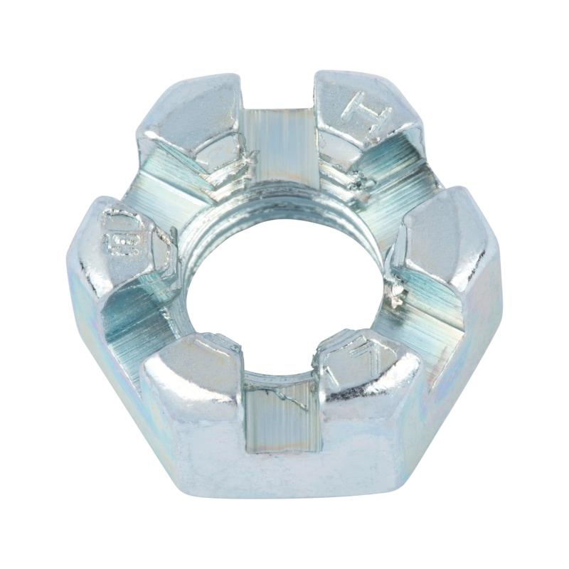 Kronenmutter niedrige Form - MU-KRO-DIN937-17H-SW24-(A2K)-M16