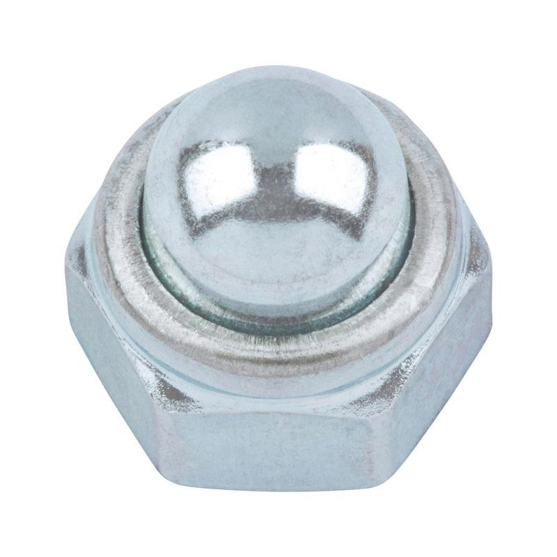 Sechskant-Hutmutter mit Klemmteil (nichtmetallischer Einsatz) Feingewinde