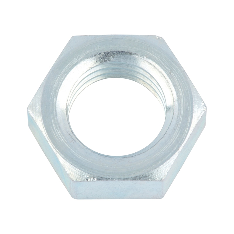 Flat nut with small width across flats, fine thread - 1