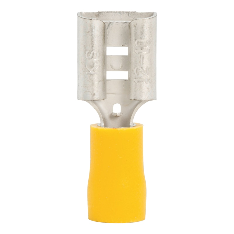 Crimp cable lug, push connector - PSHCON-YELLOW-9,5MM