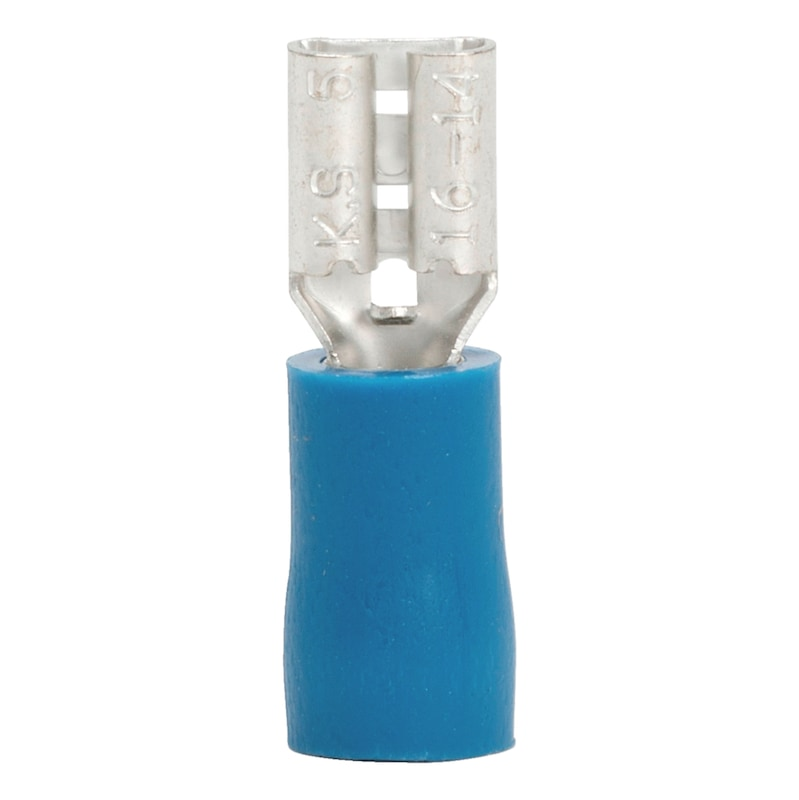 Crimp cable lug, push connector - PSHCON-BLUE-4,8X0,5MM