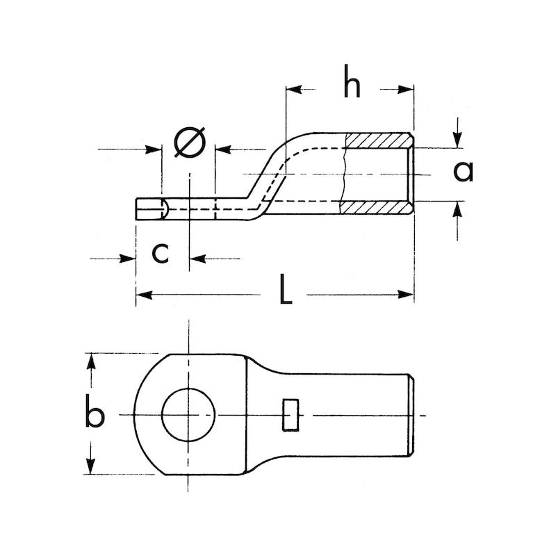 Capicorda di potenza da pinzare - CAPIC.PINZARE RAME STAGN.M10   35MMQ