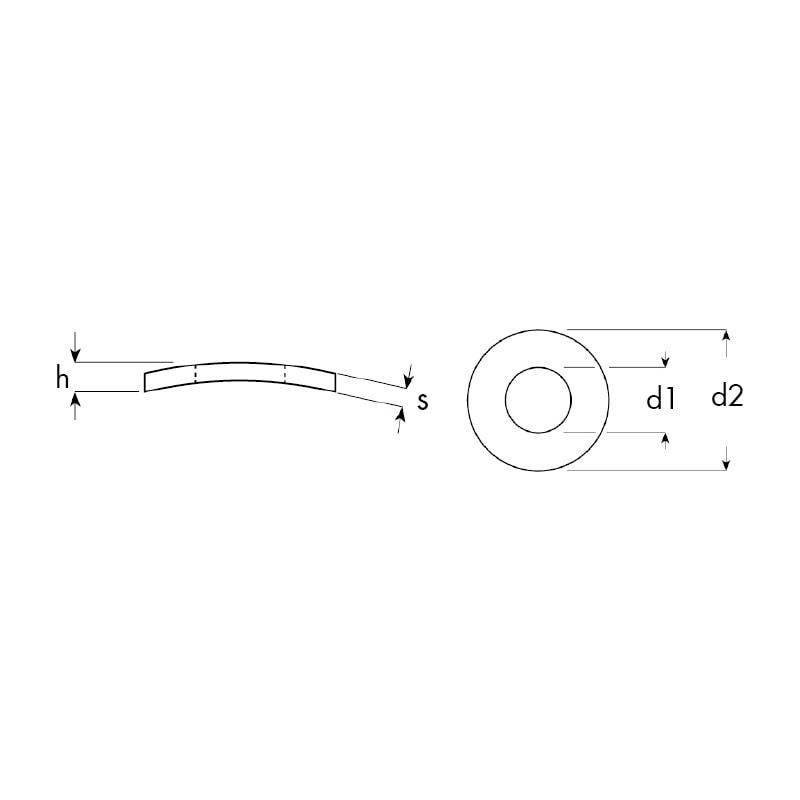 Rondella conica elastica  - 2