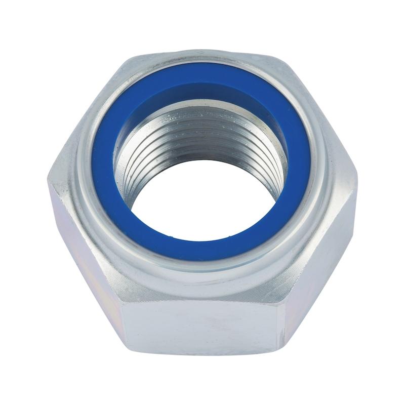 Sechskantmutter hohe Form mit Klemmteil (nichtmetallischer Einsatz) - MU-6KT-STOP-DIN982-10-SW8-(A2K)-M5