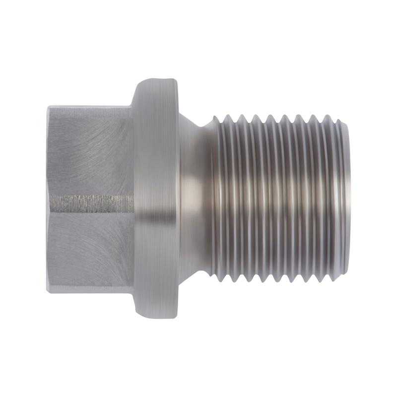 Verschlussschraube mit Bund und Außensechskant Zoll - SHR-VERSHL-DIN910-SW36-G2AX20