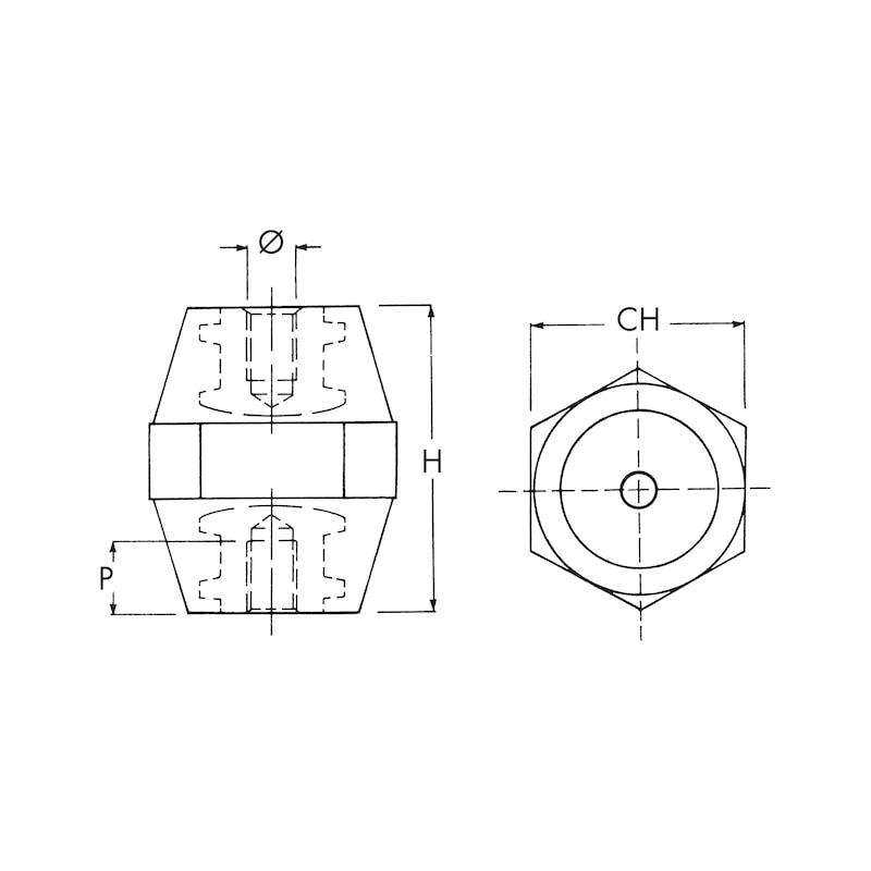 Isolatore portasbarre - 2