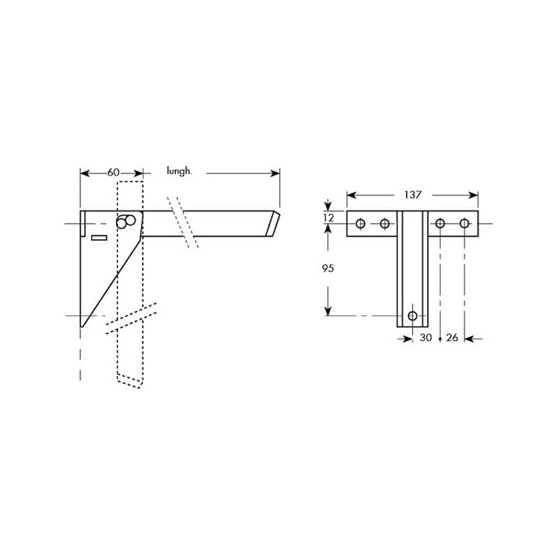 Staffe Per Mensole Richiudibili.Mensola Per Tavoli Pieghevoli Wurth