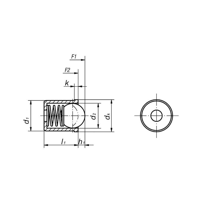 Federndes Druckstück in glatter Ausführung - 2