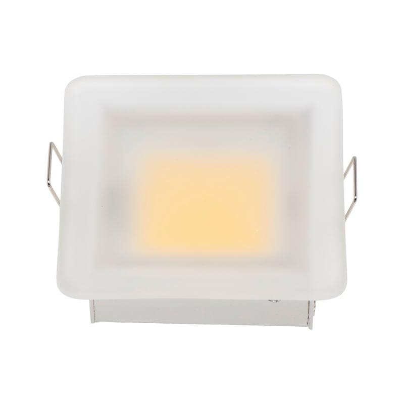 Power-LED Einbauleuchte Glas - 1